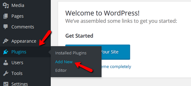 Adding a new plugin in WordPress