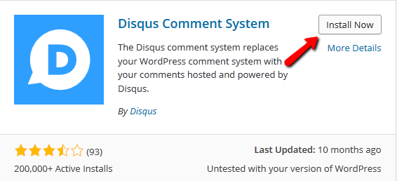 Installing the Disqus Comment System