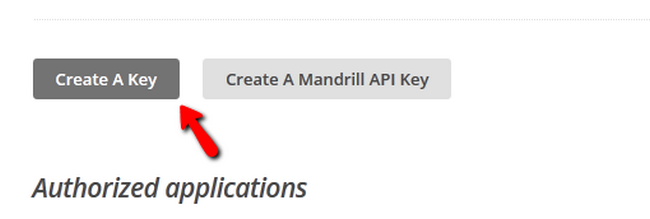 Generating a new API Key