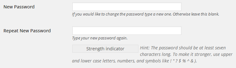 password-fields