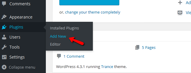 Accessing the Plugins Menu in WordPress
