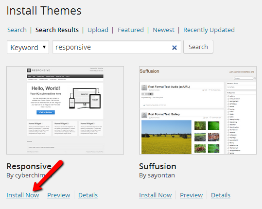 themes-Install-now