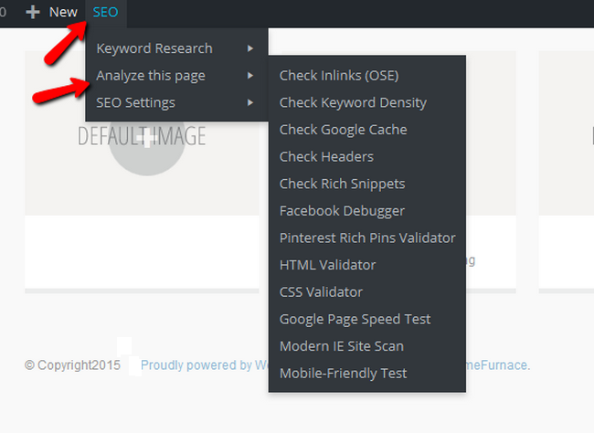 Accessing the Analyze Page Tool in Yoast SEO front-end