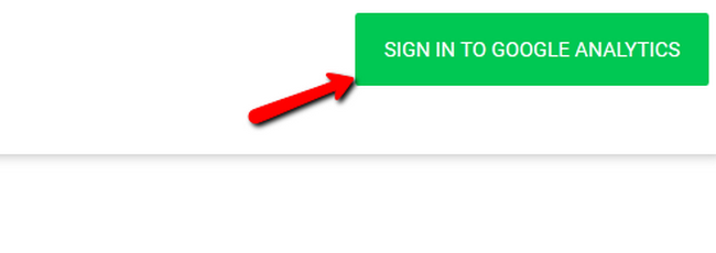 Signing in with Google Analytics