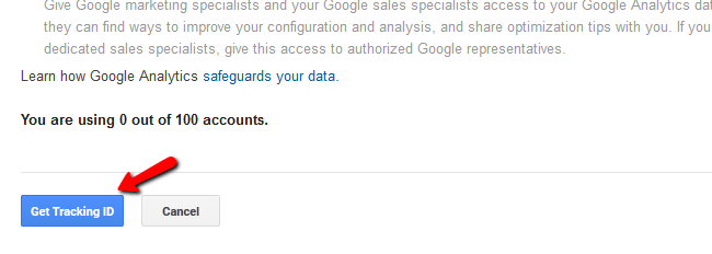 Obtaining a Google Analytics Tracking ID for your Store