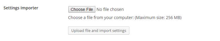 Export or Import WP Rocket settings