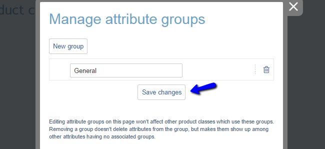 Edit attribute group in X-Cart