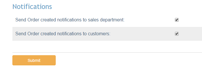 Company notifications in X-Cart