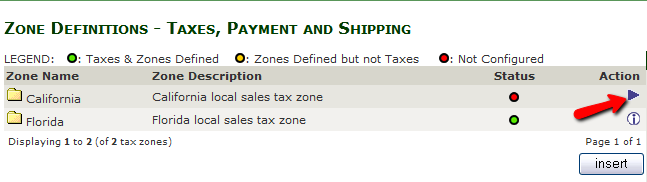 Accessing the Tax Zone's details