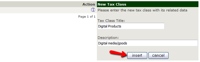 Adding a New Tax Class in Zen Cart