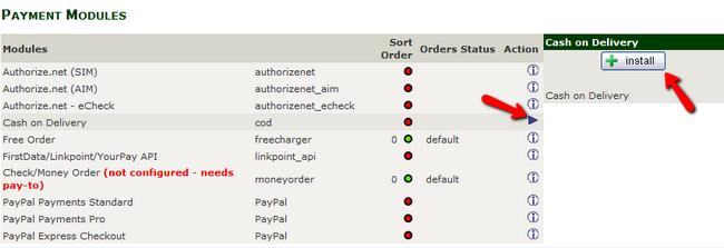 Installing a Payment Module in Zen Cart
